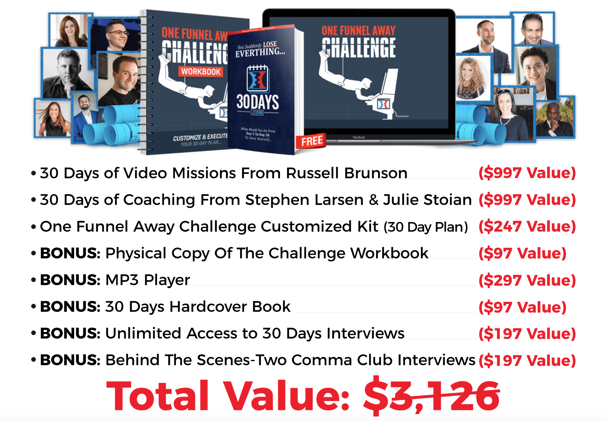 best one funnel away challenge bonuses
