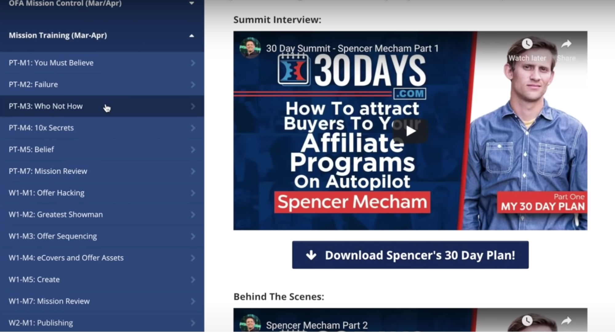 30 days spencer mecham