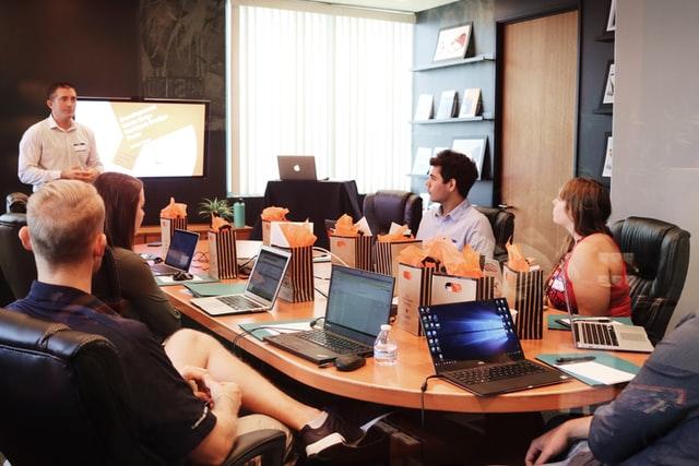 team on social media marketing plans